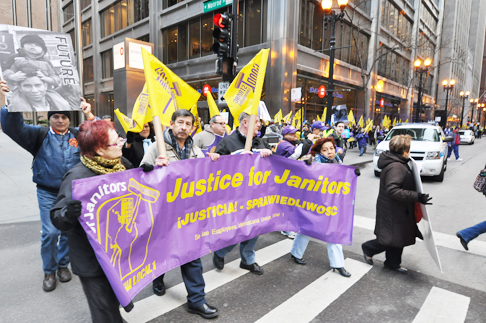 SEIU march on International Women's Day