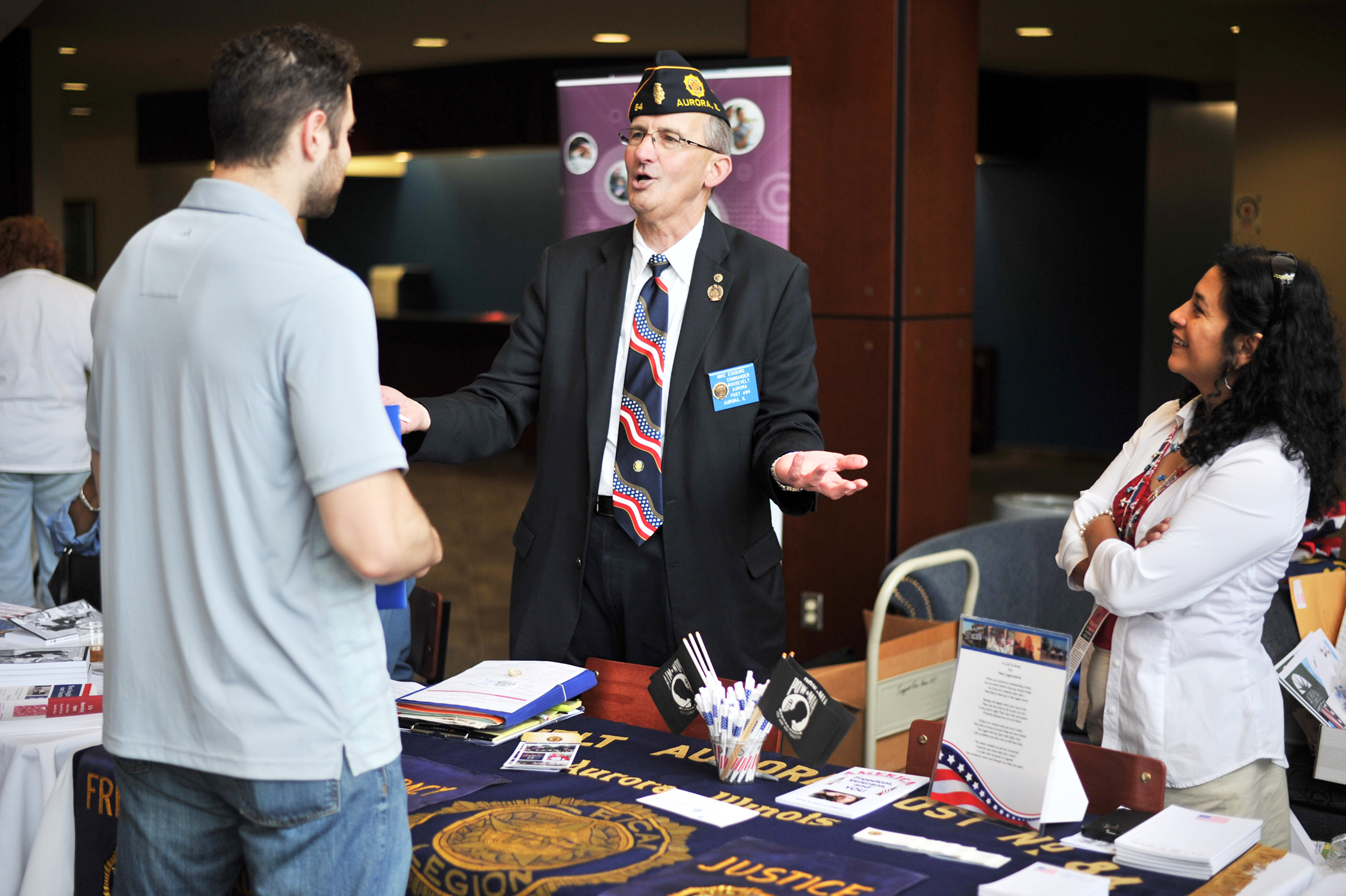 Aurora University veteran's fair