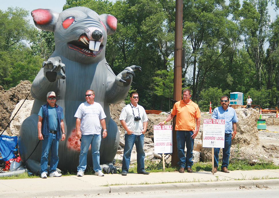 Laborers' Local 149 and Scabby the Rat