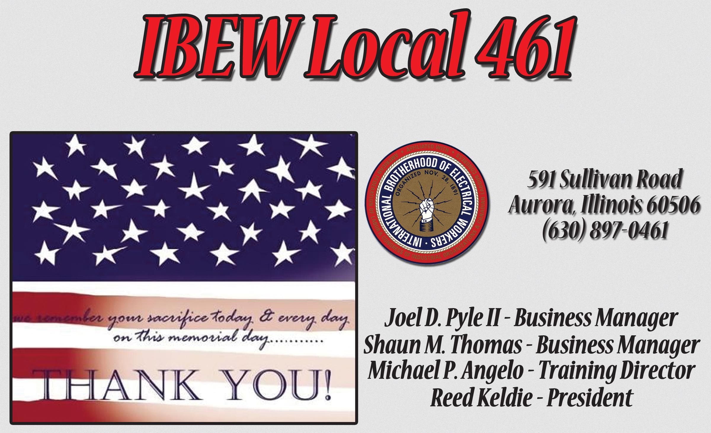 IBEW Local 461, Aurora, Ill.