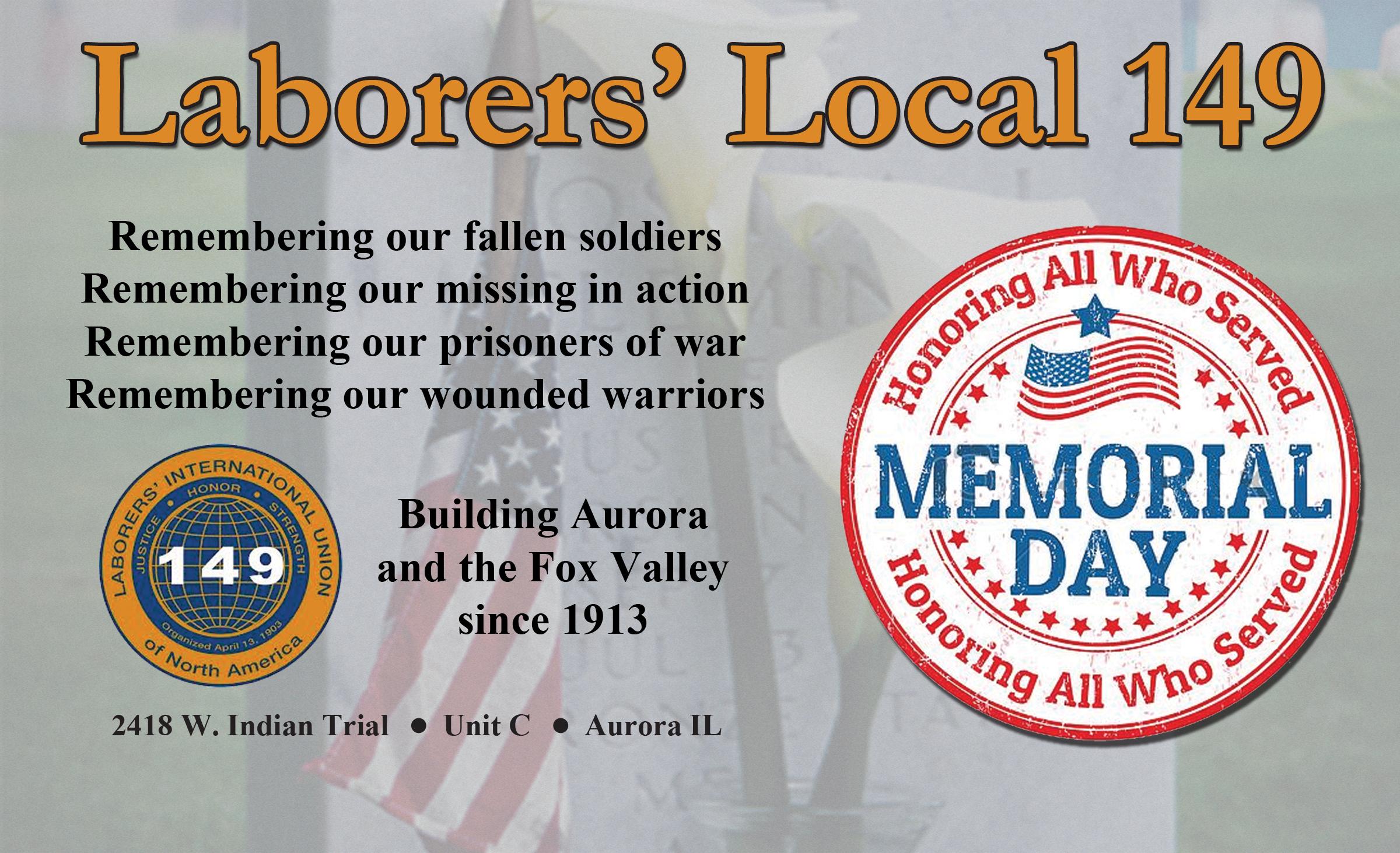 Laborers' Local 149, Aurora, Ill.
