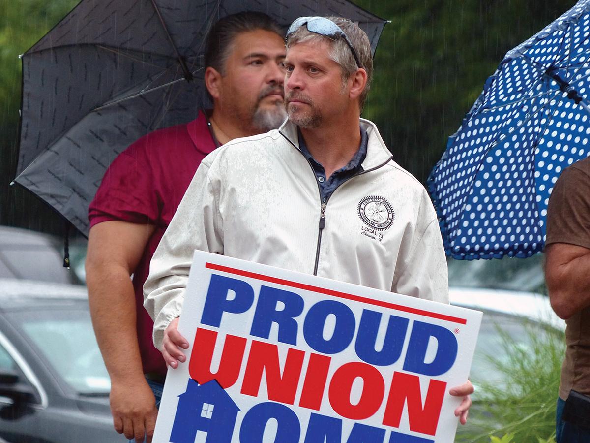 Rally against Gov. Bruce Rauner
