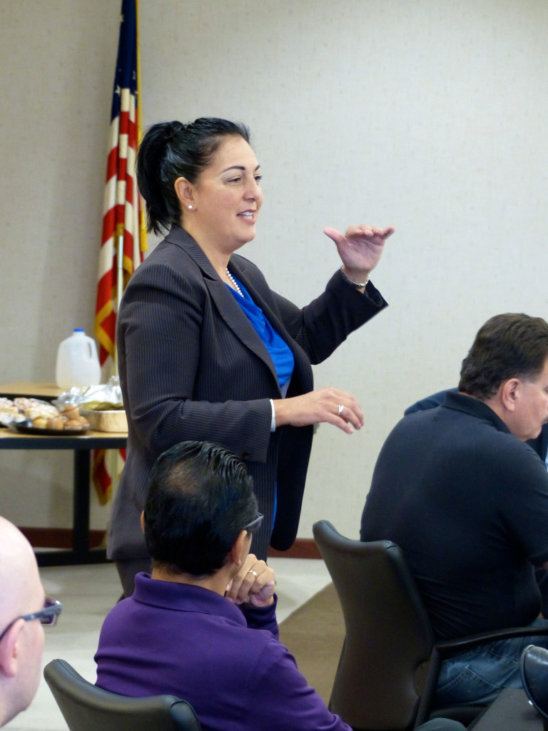 With the help of organized labor, Rep. Linda Chapa LaVia wants to 'build up' Aurora. She announced her bid as mayor of Aurora in June. She would like to see Aurora with skyscrapers and convention centers. Jennifer Rice, staff photographer