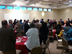 Even though CTU President Karen Lewis was unable to attend an event in her honor, guest of the 20th annual Northeastern Illinois Federation of Labor, AFL-CIO Person of the Year award, stand and applaud her efforts and dedication for teaching and standing firm against the privatization of public education.