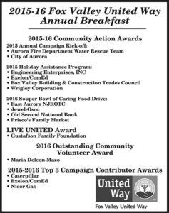 2016 Fox Valley United Way Annual Breakfast.