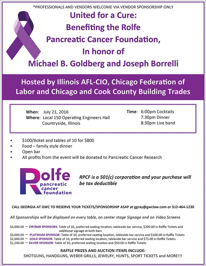United for a Cure: In honor of Michael B. Goldberg and Joseph Borrelli