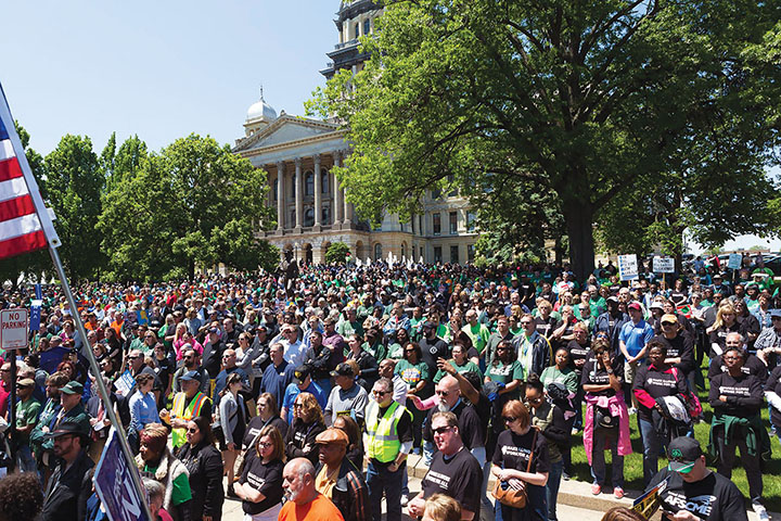 Rally in Springfield